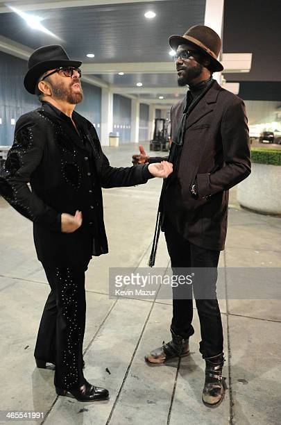 Dave Stewart and Gary Clark Jr attend The Night That Changed America A GRAMMY Salute To The Beatles at Los Angeles Convention Center on January 27...