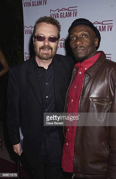 Dave Stewart and Jimmy Cliff attend the MAC Cosmetics Charity Party to support Aids in London in honour of Mary J Blige at The Criterion Restaurant...