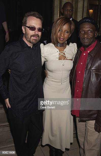 Dave Stewart Mary J Blige and Jimmy Cliff attend the MAC Cosmetics Charity Party to support Aids in London in honour of Mary J Blige at The Criterion...