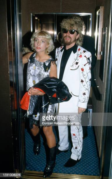 Dave Stewart of Eurythmics attending the Brit Awards at the Grosvenor House Hotel in London, England on February 10, 1986.