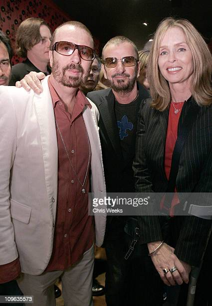Dave Stewart, Ringo Starr and Barbara Bach during Dave Stewart Hosts the Unveiling of Coco de Mer Boutique - Inside at Coco de Mer in West Hollywood,...