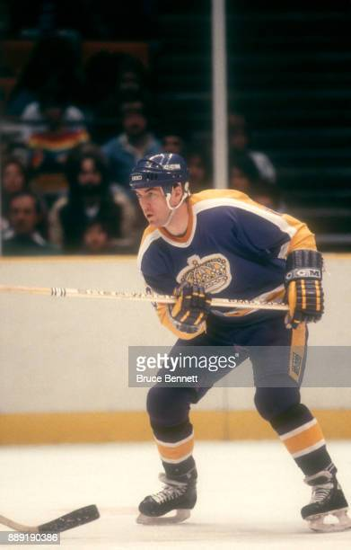 Dave Taylor of the Los Angeles Kings skates on the ice during an NHL game against the New Jersey Devils on March 4 1984 at the Brendan Byrne Arena in...
