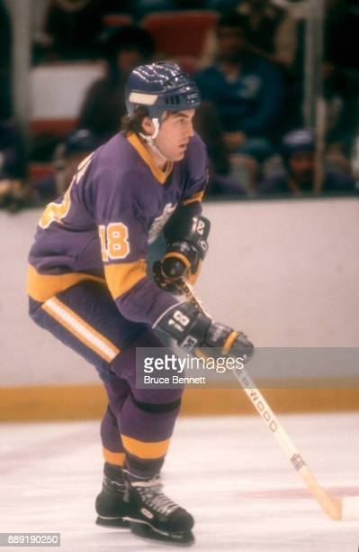 Dave Taylor of the Los Angeles Kings skates on the ice during the 1980 Preliminary Round against the New York Islanders circa April 1980 at the...