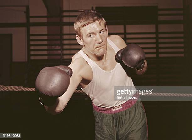 Dave Thomas of Great Britain and the Polytechnic Boxing Club ABA Heavyweight Champion from 1957 1959 on 1st June 1958 in London Great Britain