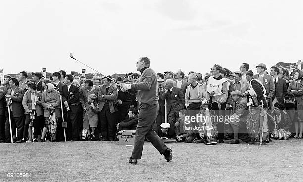 Dave Thomas of Wales in action during the 1964 Open Championship held on the Old Course at St Andrews on July 10, 1964 in St Andrews, Scotland.