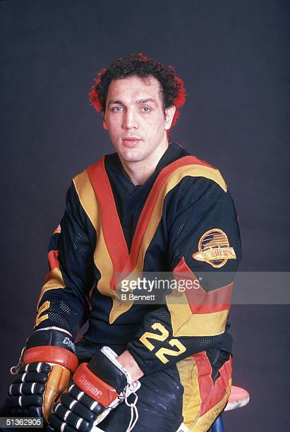 Dave Tiger Williams of the Vancouver Canucks poses for a portrait circa 1981