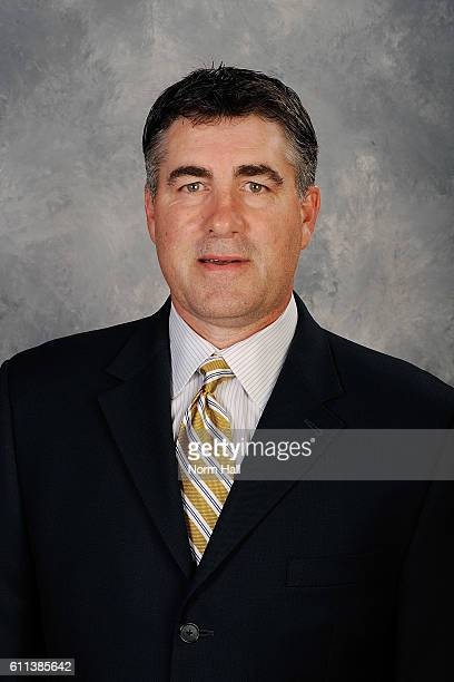 Dave Tippett of the Arizona Coyotes poses for his official headshot of the 20162017 season on September 22 2016 at the Gila River Arena in Glendale...