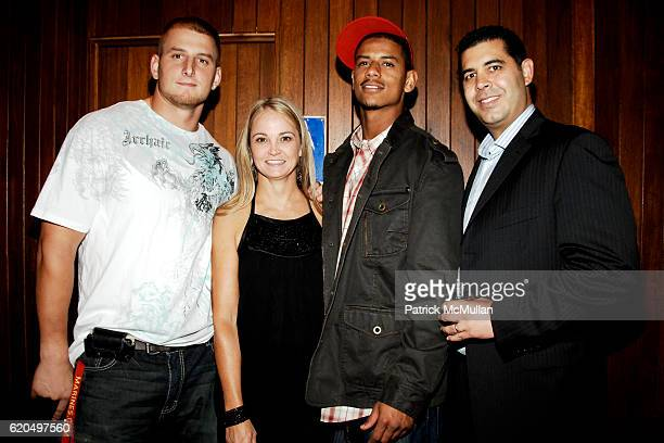 Dave Tollefson Lori Flynn Michael Johnson and Karim Farag attend EVERYDAY HEALTH 2nd Anniversary Party at Hudson Terrace on September 25 2008 in New...