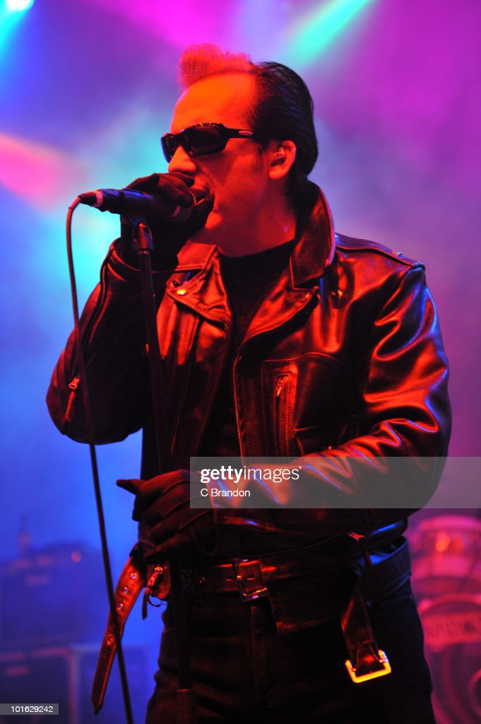 Dave Vanian of The Damned performs on stage at Shepherds Bush Empire on June 4, 2010 in London, England.