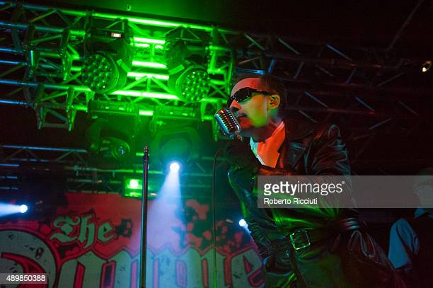 Dave Vanian of The Damned performs on stage at The Liquid Room on September 24 2015 in Edinburgh Scotland