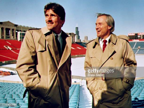 Dave Wannstedt takes a tour of Soldier Field 19 January 1993 after he was officially named head coach of the Chicago Bears by team president Michael...