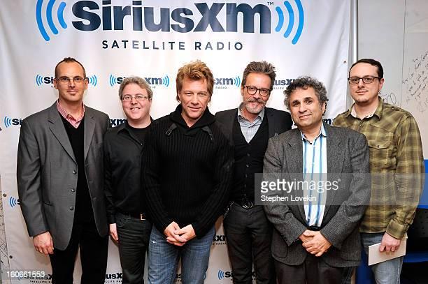 Dave Wellington Randy Dry Jon Bon Jovi Gregg Steele Steve Leeds and Joey Black attend SiriusXM's Town Hall with Jon Bon Jovi and moderator Savannah...