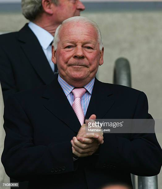 Dave Whelan, Chairman of wigan Athletic looks on during the Barclays Premiership match between Wigan Athletic and Middlesbrough at the JJB Stadium on...