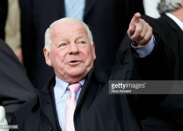 Dave Whelan Chairman of Wigan Athletic looks on during the Barclays Premiership match between Sheffield United and Wigan Athletic at Bramall Lane on...