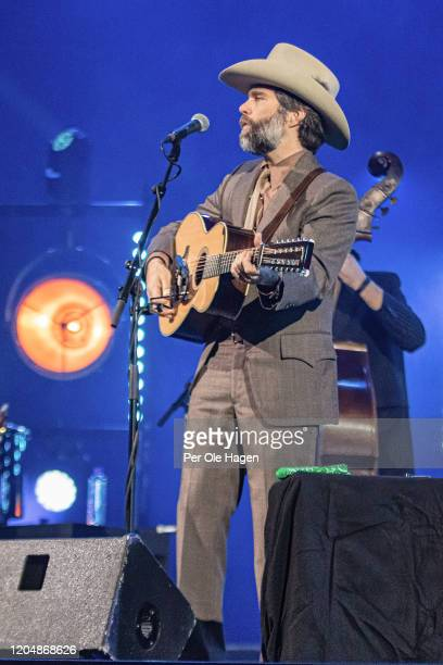 Dave Wilson performs Winter Stories with Judy Collins Jonas Fjeld and the Chatham County Line on stage at The National Opera House in Oslo Norway