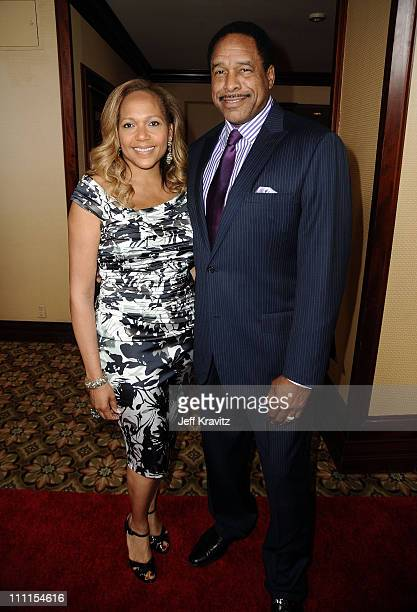 Dave Winfield and guest arrive at the 25th Anniversary Of CedarsSinai Sports Spectacular held at Hyatt Regency Century Plaza on May 23 2010 in...