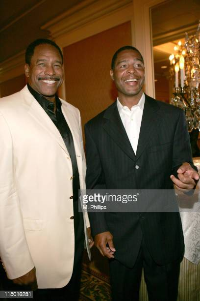 Dave Winfield and Marcus Allen during Archbishop Desmond Tutu's 75th Birthday Party in Beverly Hills California United States
