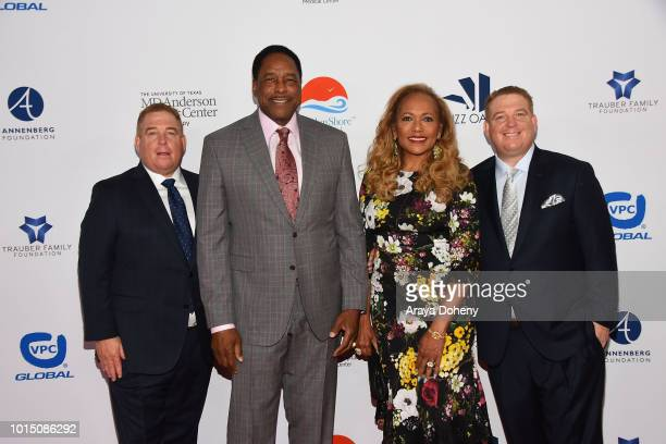 Dave Winfield and the Pump brothers attend the 18th Annual Harold and Carole Pump Foundation Gala at The Beverly Hilton Hotel on August 10 2018 in...