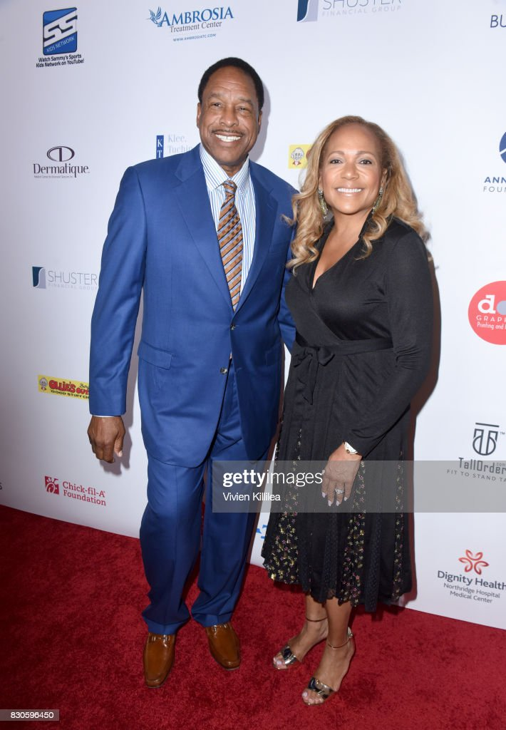 Dave Winfield and Tonya Turner attend the 17th Annual Harold & Carole Pump Foundation Gala at The Beverly Hilton Hotel on August 11, 2017 in Beverly Hills, California.