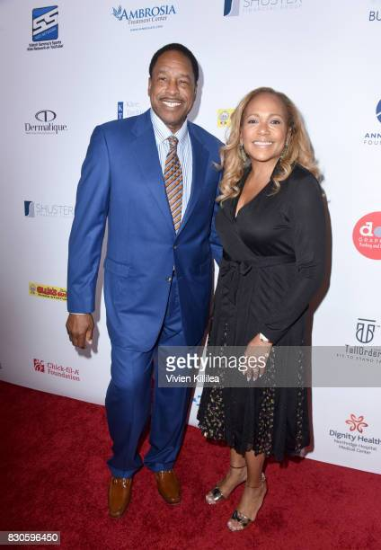 Dave Winfield and Tonya Turner attend the 17th Annual Harold Carole Pump Foundation Gala at The Beverly Hilton Hotel on August 11 2017 in Beverly...