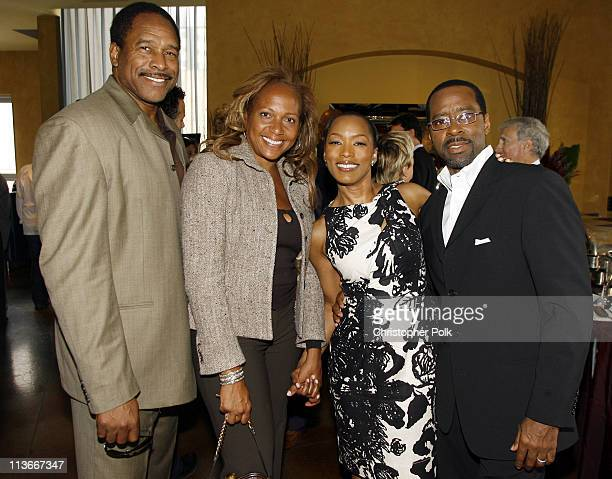 Dave Winfield and wife with Angela Bassett and husband *EXCLUSIVE*