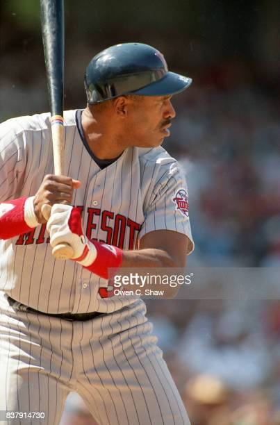 Dave Winfield of the Minnesota Twins bats against the California Angels at the Big A circa 1994 in AnaheimCalifornia
