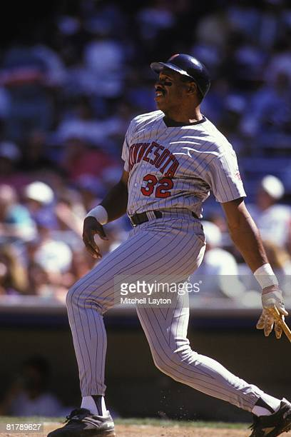 Dave Winfield of the Minnesota Twins bats during a baseball game against the Baltimore Orioles on May 1 1994 at Camden Yards in Baltimore Maryland