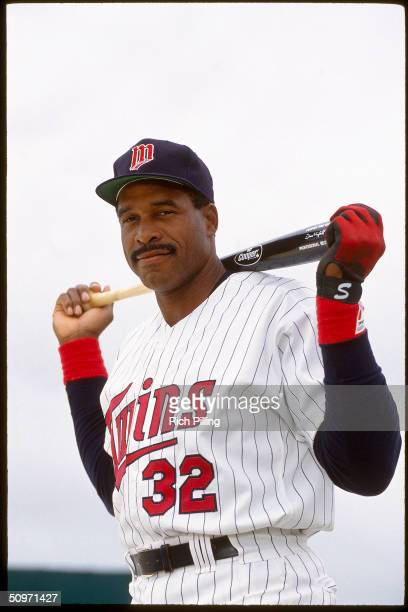 Dave Winfield of the Minnesota Twins poses for a portrait in 1993