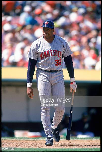 Dave Winfield of the Minnesota Twins walks on the field circa 1994