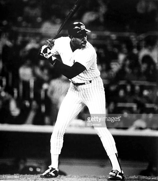 Dave Winfield of the New York Yankees bats during an MLB game circa 1984 at Yankee Stadium in Bronx New York