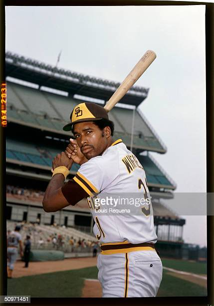 Dave Winfield of the San Diego Padres poses for a portrait at Shea Stadium in Queens New York in 1975