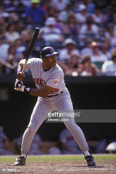 Dave Winfiled of the Minnesota Twins bats during a baseball game against the Baltimore Orioles on July 1 1993 at Camden Yards in Baltimore Maryland