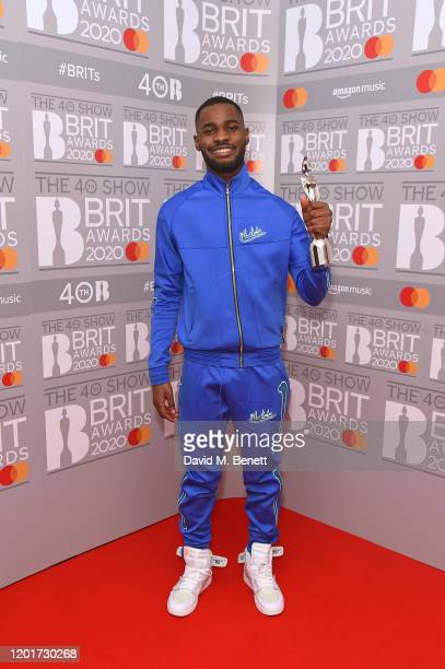 Dave winner of the Mastercard Album Of The Year award poses in the winners room at The BRIT Awards 2020 at The O2 Arena on February 18 2020 in London...
