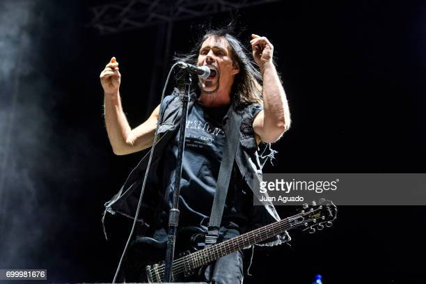Dave Wyndorf of Monster Magnet performs on stage at the Download Festival on June 22 2017 in Madrid Spain