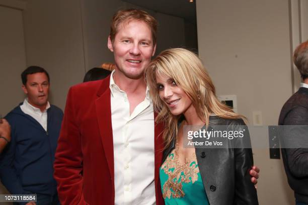 Dave Zinczenko and Alison Brod attend Galvanized Media/Dave Zinczenko Holiday Party at Private Residence on December 13 2018 in New York City