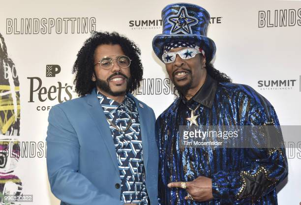 Daveed Diggs and Bootsy Collins attend the premiere of Summit Entertainment's 'Blindspotting' at The Grand Lake Theater on July 11 2018 in Oakland...