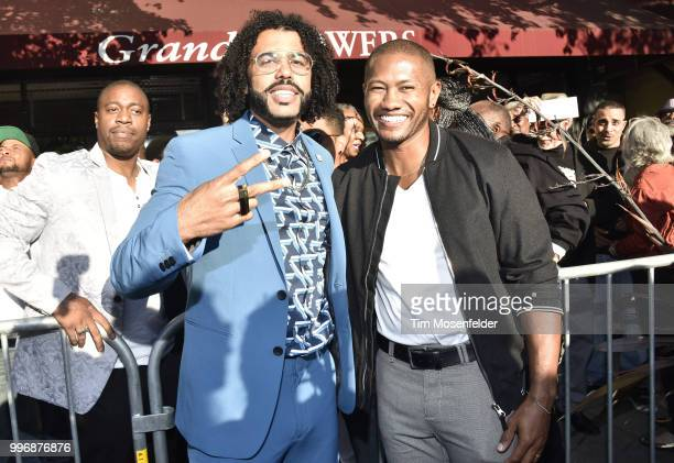 Daveed Diggs and guests attend the premiere of Summit Entertainment's 'Blindspotting' at The Grand Lake Theater on July 11 2018 in Oakland California