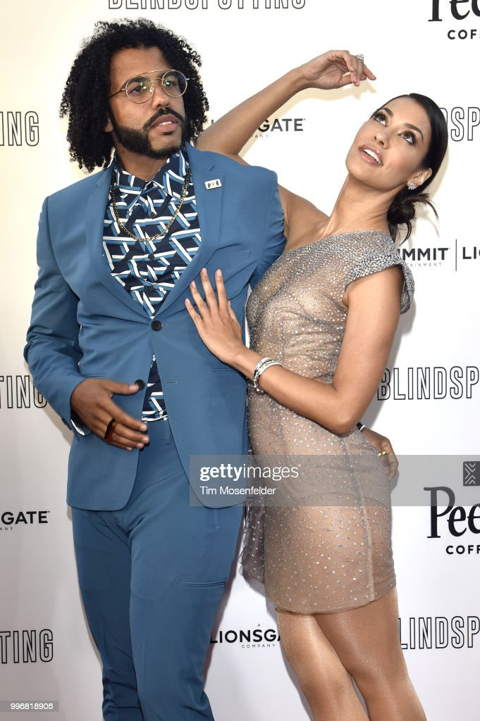 Daveed Diggs (L) and Janina Gavankar attend the premiere of Summit Entertainment's 'Blindspotting' at The Grand Lake Theater on July 11, 2018 in Oakland, California.