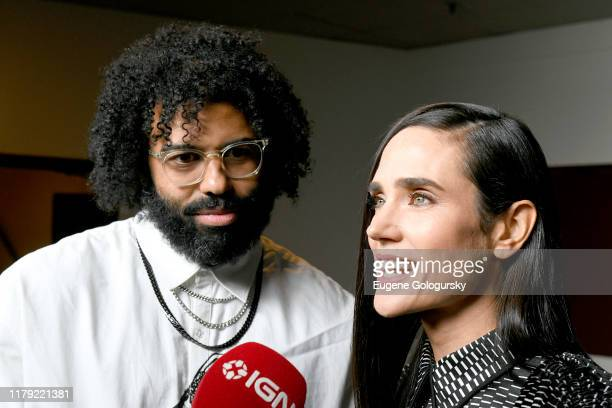 Daveed Diggs and Jennifer Connelly attend the Snowpiercer press line during New York Comic Con at Hammerstein Ballroom on October 05 2019 in New York...