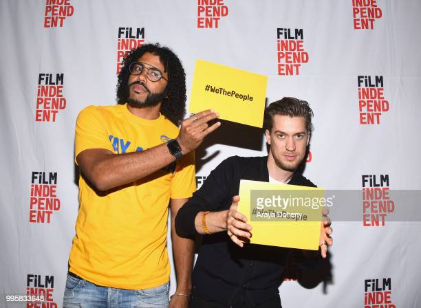 Daveed Diggs and Rafael Casal attend Film Independent at the WGA Theater presents screening and QA of Blindspotting at The WGA Theater on July 10...