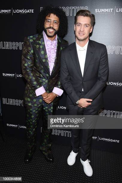 """Daveed Diggs and Rafael Casal attend the screening of """"Blindspotting"""" hosted by Lionsgate at Angelika Film Center on July 16, 2018 in New York City."""