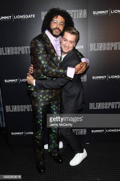 Daveed Diggs and Rafael Casal attend the screening of Blindspotting hosted by Lionsgate at Angelika Film Center on July 16 2018 in New York City