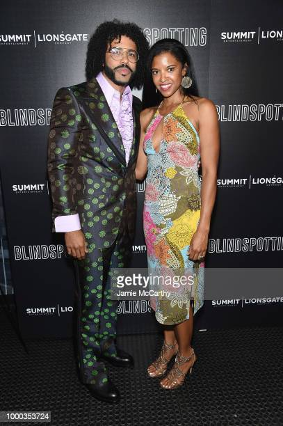 Daveed Diggs and Renee Elise Goldsberry attend the screening of 'Blindspotting' hosted by Lionsgate at Angelika Film Center on July 16 2018 in New...