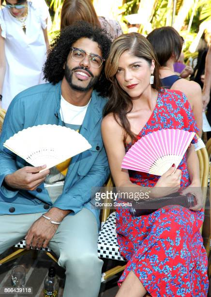 Daveed Diggs and Selma Blair attend CFDA/Vogue Fashion Fund Show and Tea at Chateau Marmont at Chateau Marmont on October 25 2017 in Los Angeles...