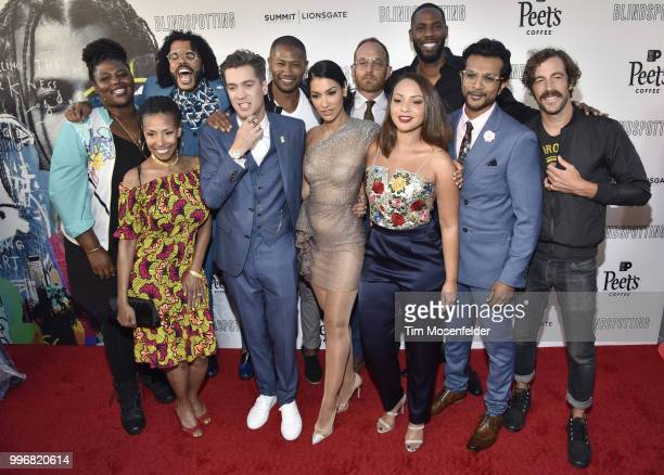 Daveed Diggs and the film cast attend the premiere of Summit Entertainment's 'Blindspotting' at The Grand Lake Theater on July 11 2018 in Oakland...