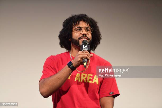 Daveed Diggs attends the Blindspotting Premiere 2018 SXSW Conference and Festivals at Paramount Theatre on March 11 2018 in Austin Texas