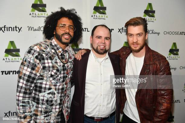 Daveed Diggs Executive director of the Atlanta Film Festival Christopher Escobar and Rafael Casal attend the screening of 'Blindspotting' during the...