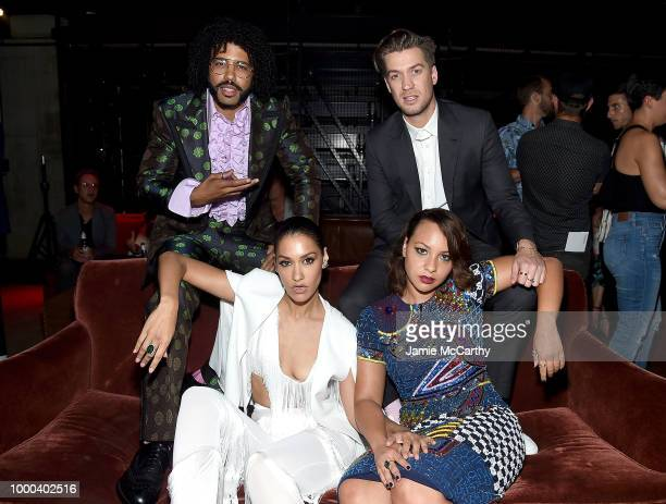 Daveed Diggs performs at the afterparty for the screening of 'Blindspotting' hosted by Lionsgate at Public Arts on July 16 2018 in New York City