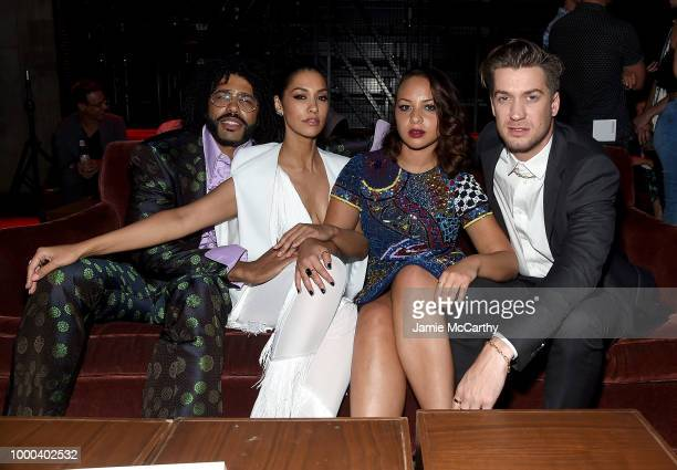 Daveed Diggs Janina Gavankar Jasmine Cephas Jones and Rafael Casal attend the afterparty for the screening of Blindspotting hosted by Lionsgate at...