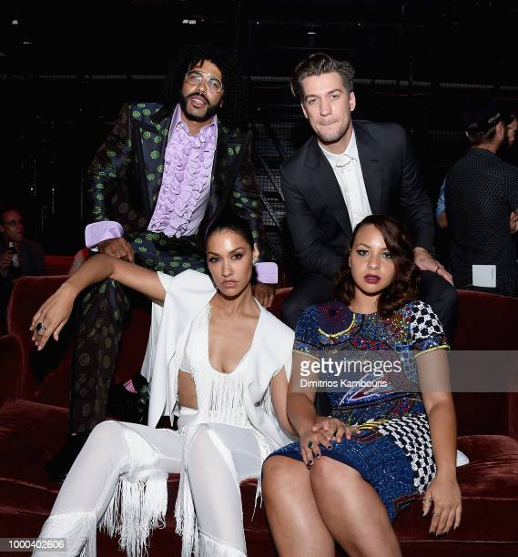 Daveed Diggs Janina Gavankar Rafael Casal and Jasmine Cephas Jones attend the after party for Blindspotting New York Premiere at Public Arts on July...